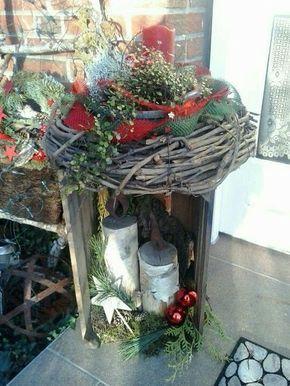 bildergebnis f r weihnachtsdeko hauseingang dekoration pinterest weihnachten. Black Bedroom Furniture Sets. Home Design Ideas