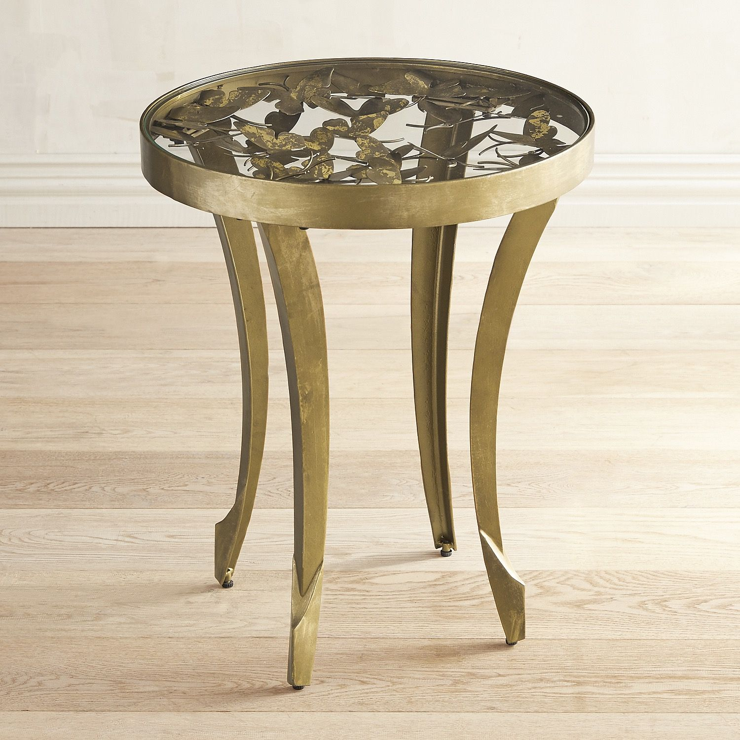Golden Butterfly End Table End Tables Handcrafted Coffee Table