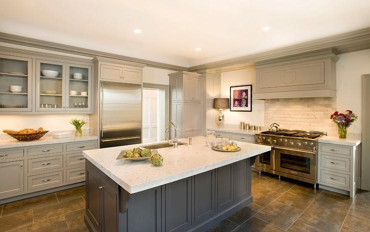 Best Taupe Kitchen Cabinets Transitional Kitchen Benjamin 400 x 300