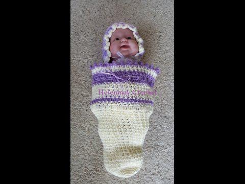 Crochet easy baby cocoon DIY tutorial - YouTube | Fringes | Pinterest