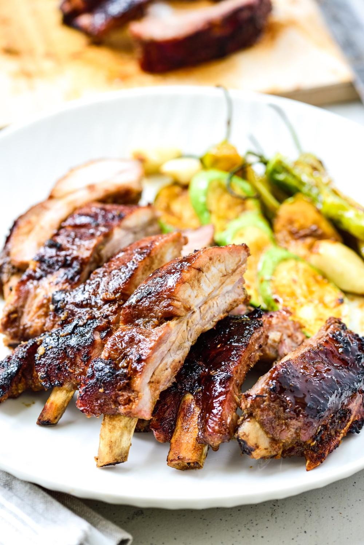 Korean Bbq Pork Ribs Recipe Pork Recipes Bbq Pork Ribs Pork Ribs