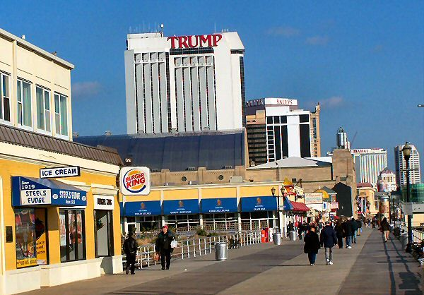Atlantic City Boardwalk Map Of Hotels Amp Casinos Atlantic City Boardwalk Atlantic City City