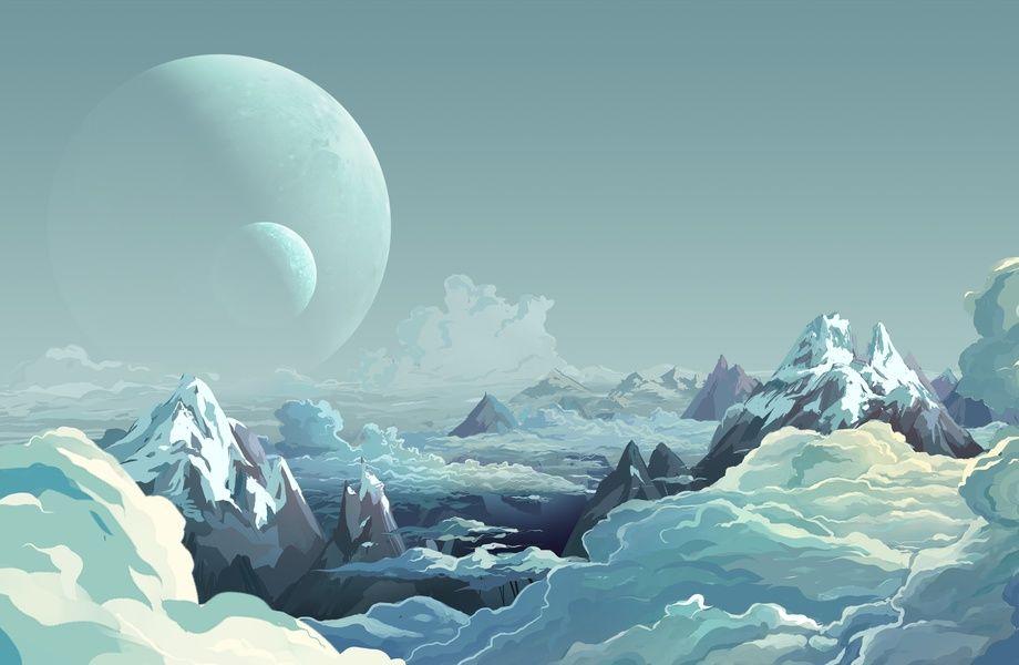 Planet Fantasy Art 4k Hd Desktop Wallpaper For 4k Ultra: Landscape Mountains 4K Ultra HD Wallpaper