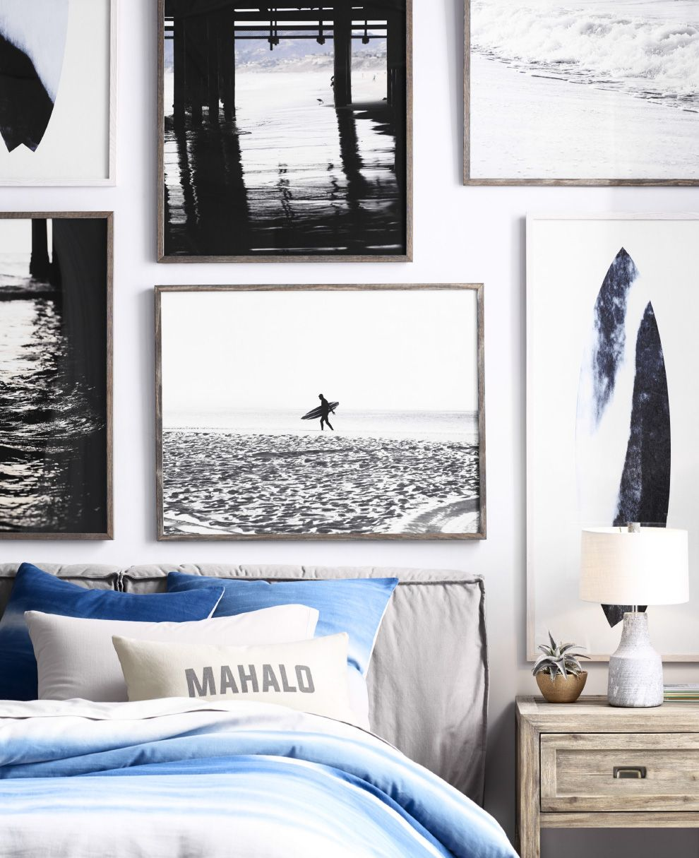 Bring The Outside In With Surf Inspired Artwork Hung In A Dynamic