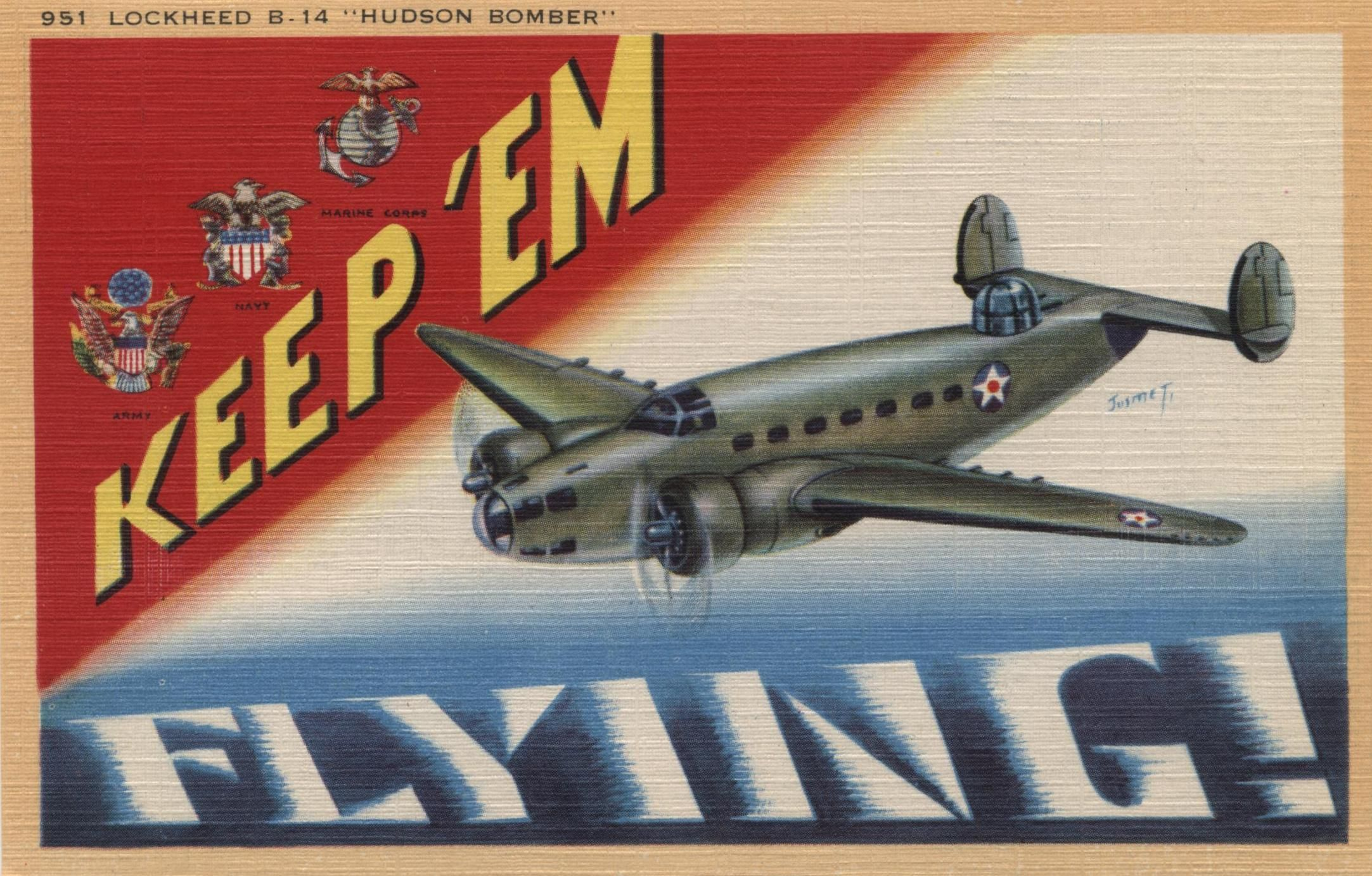 KEEP 'EM FLYING FIGHTER AIRCRAFT POST CARDS ORIGINALS