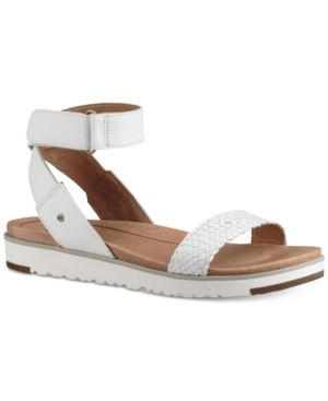 37a6f484232 Ugg Laddie Wedge Sandals - White 9 | Products | Ugg sandals, Uggs ...