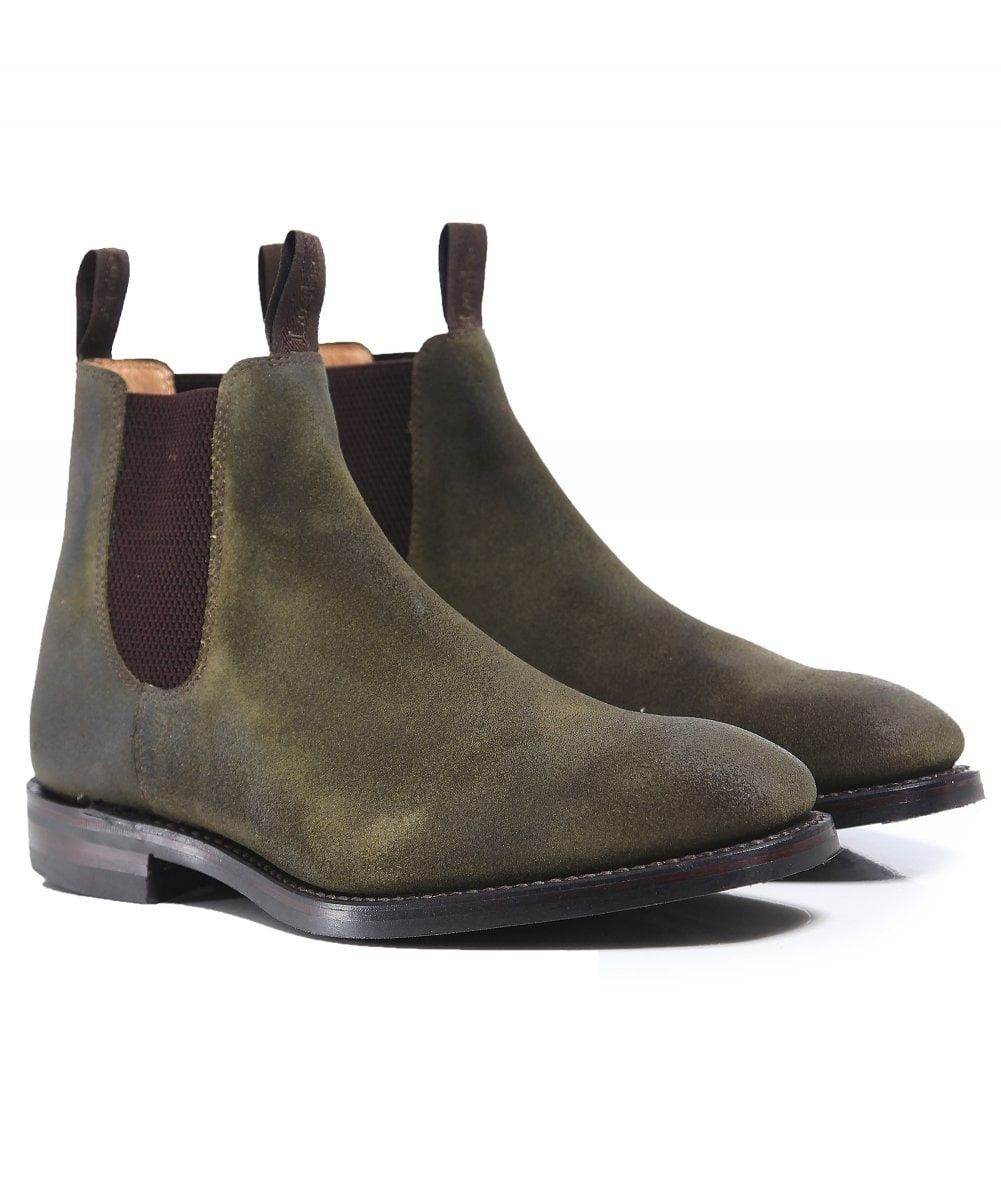 d007bb8a014c7 LOAKE WAXED SUEDE CHATSWORTH CHELSEA BOOTS GREEN. #loake #shoes ...