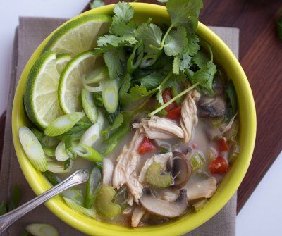 Thai Coconut Chicken Soup by Anne Mauney