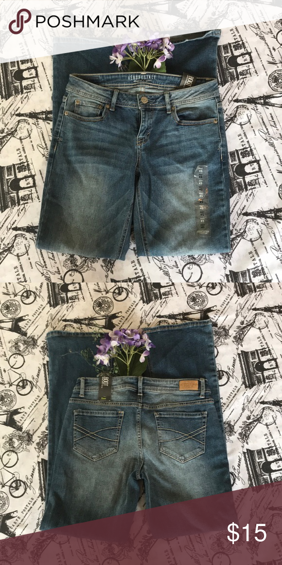 534aca14aea NWT Aeropostale Bootcut Jeans NWT Aeropostale Bootcut Jeans. Size: 4S  Flaws: Slight wear on bottom hem of jeans. (Pictured) Aeropostale Jeans  Boot Cut