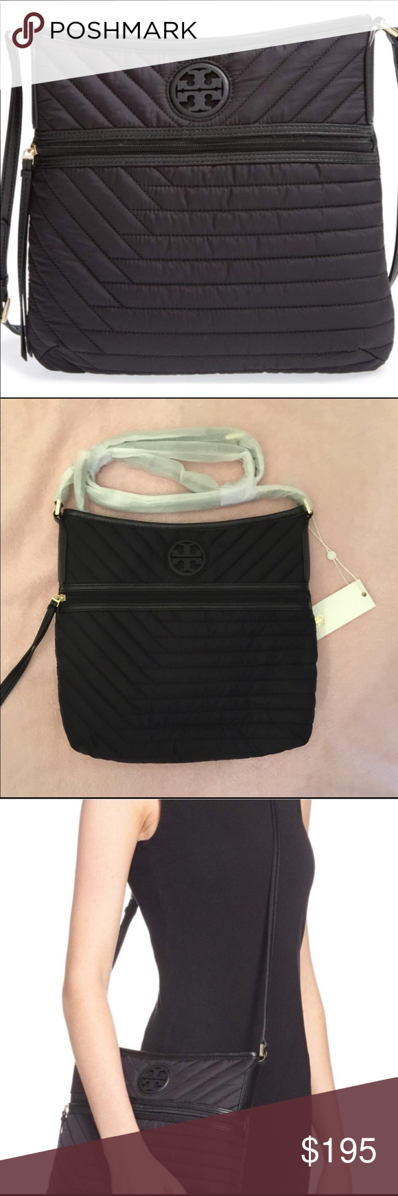 3723fc95be4 Tory Burch Quilted Nylon Swingpack 💯% authentic Tory Burch Quilted Nylon  Swingpack NWT iconic