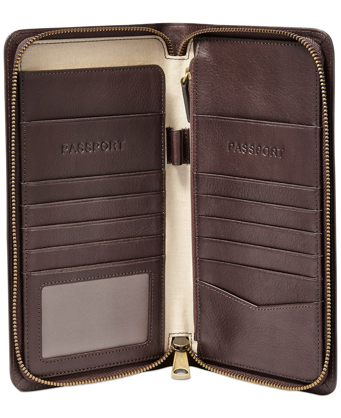 Fossil Multi-Zip Leather Passport Case - Accessories & Wallets - Men -  Macy's