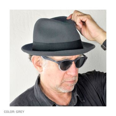 Black Jaxon /& James Crushable Blues Trilby Hat