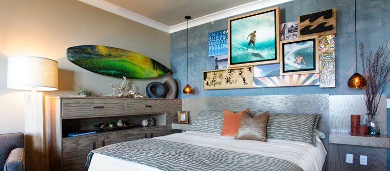 #Surfboard decor #Interior design ideas #beach house
