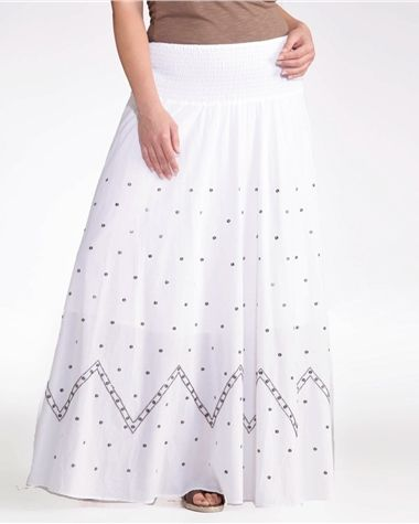 6ed5133ddf26d4 Jupon long pur coton grande taille femme TAILLISSIME   Mori Kei BW ...