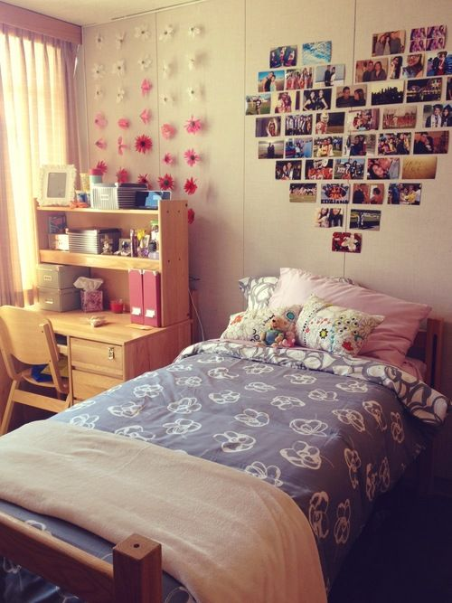 Decorating Ideas > I Really Like The Hanging Ombre Flowers Cute And Simple  ~ 023529_Easy Dorm Room Decorating Ideas