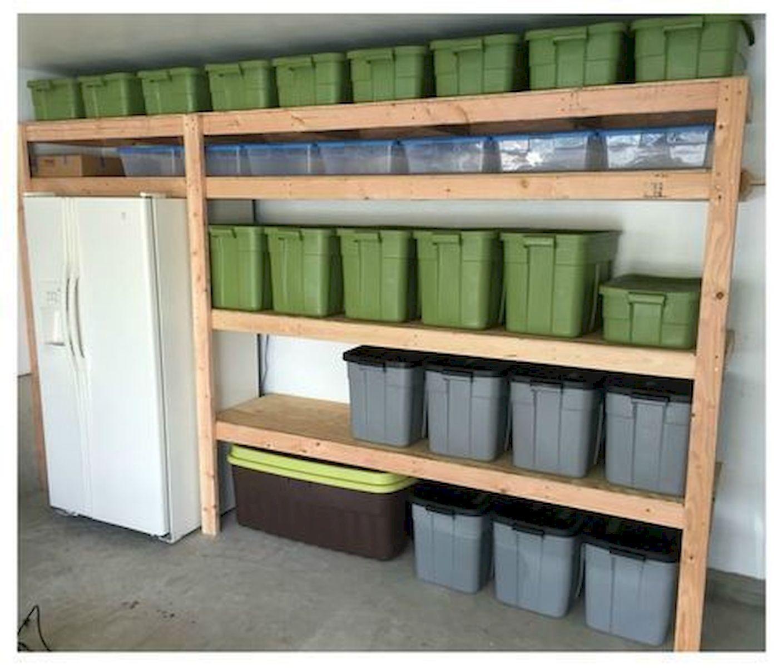 40 Inspiring Diy Garage Storage Design Ideas On A Budget Diy Garage Shelves Diy Garage Garage Shelf