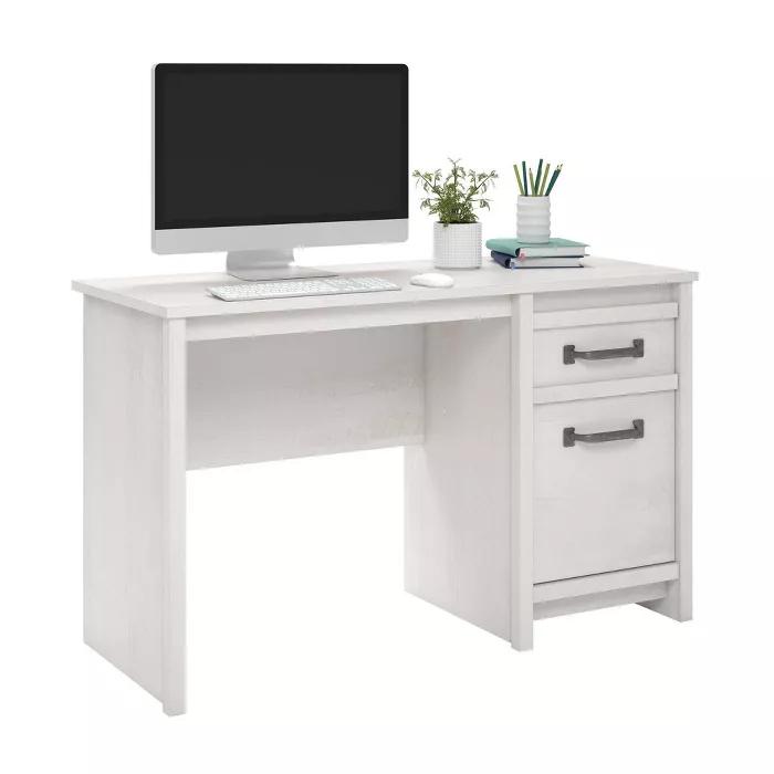 Aldeen Computer Desk Ivory Oak Room Joy In 2021 Desk Furniture Desk Storage