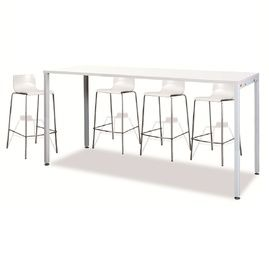 Counter Height Office Cafeteria Bar Table Black Leg 1200l X 700w Bar Table White Bar Table Table