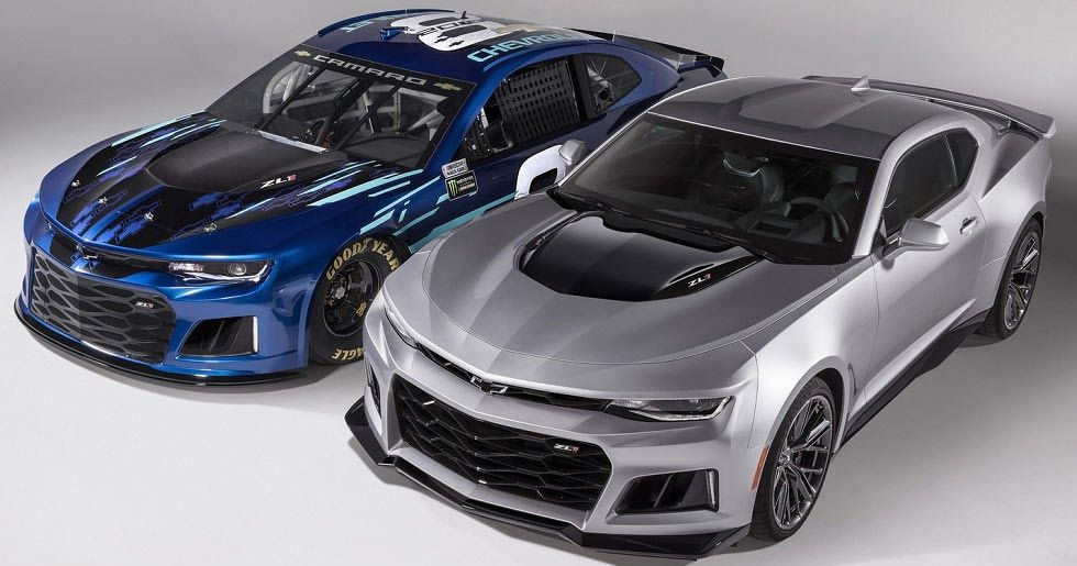2018 Chevrolet Camaro Zl1 Race Car Unveiled For The Monster Energy Nascar Cup Series Carscoops Chevrolet Camaro Zl1 Nascar Race Cars Camaro