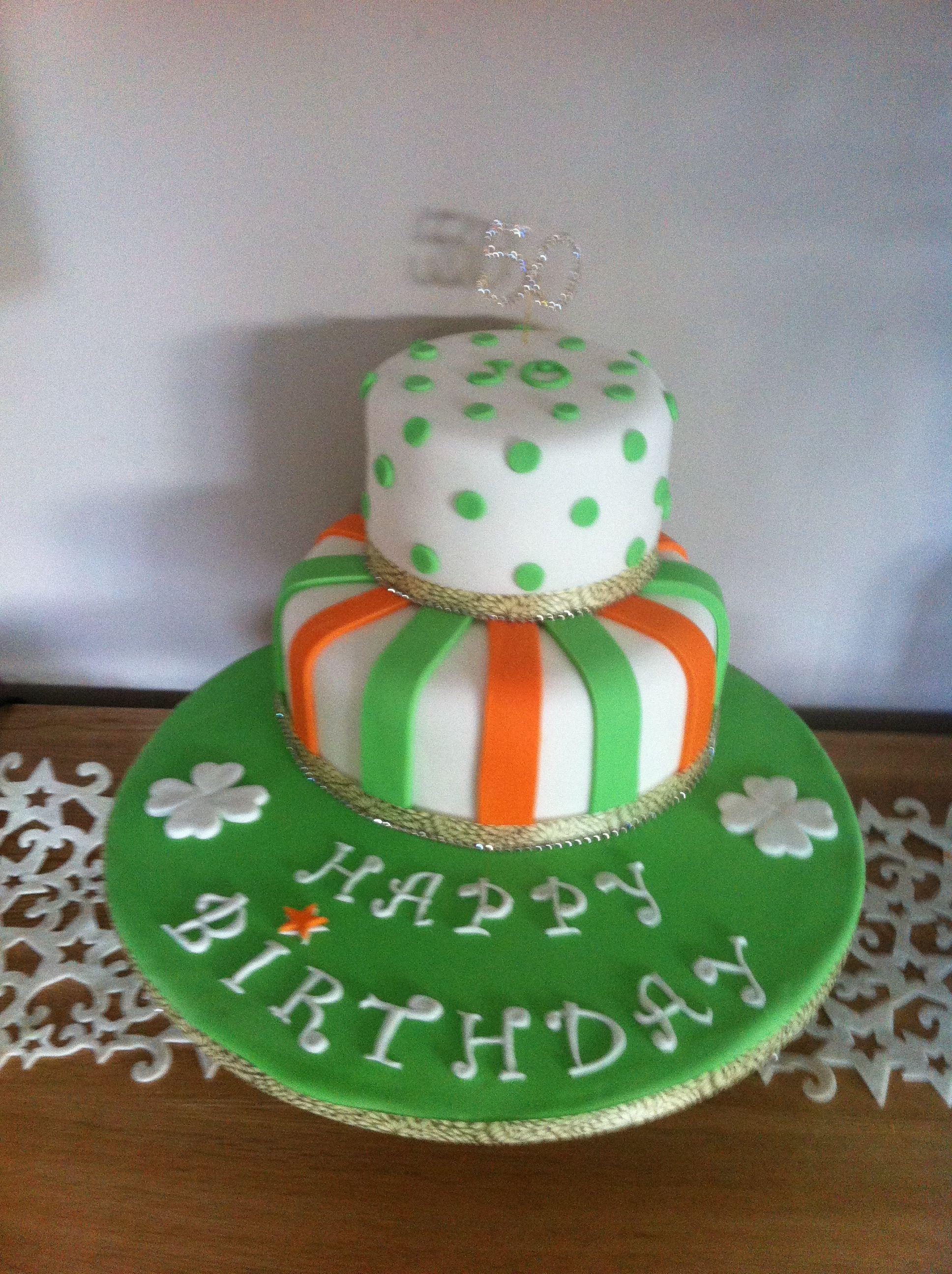 Surprising Irish Themed 50Th Birthday Cake With Images Themed Birthday Personalised Birthday Cards Veneteletsinfo