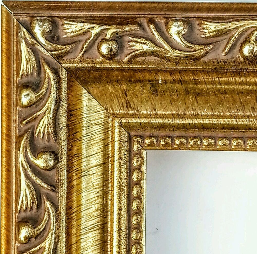 36 ft - Gorgeous Ornate ANTIQUE GOLD Picture Frame Moulding, Beaded ...