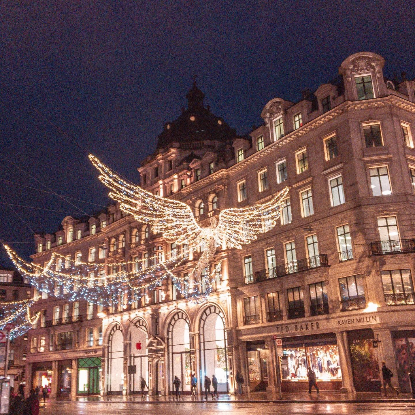 The Most Talked About Christmas Lights In London Angels Of Regent Street Did You Know T In 2020 Best Christmas Lights Decorating With Christmas Lights Visit London