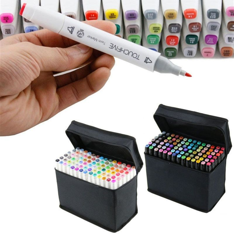 Touch New Five Graphic 40 Markers Art Pen Oil Acohol Twin Tips Fine Drawing