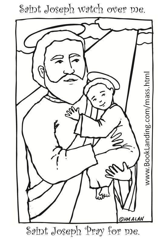 Print And Color Saint Joseph St Joseph St Josephs Day Catholic Coloring