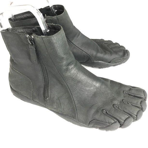 c8ce687d Vibram FiveFingers Bormio Barefoot Boots Mens Sz 40 / 8 Black Crazyhorse  Leather #Vibram #RunningShoes