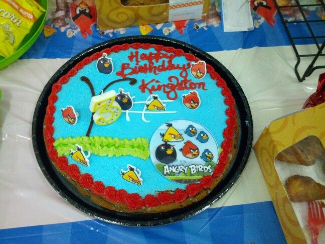 Angry Bird Party Double Layer Chocolate Chip Cookie Cake W Buttercream Filling Made By Sams Club Mmmmmm