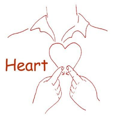 Heart: Index fingers draw heart over heart | ASL | Sign ...