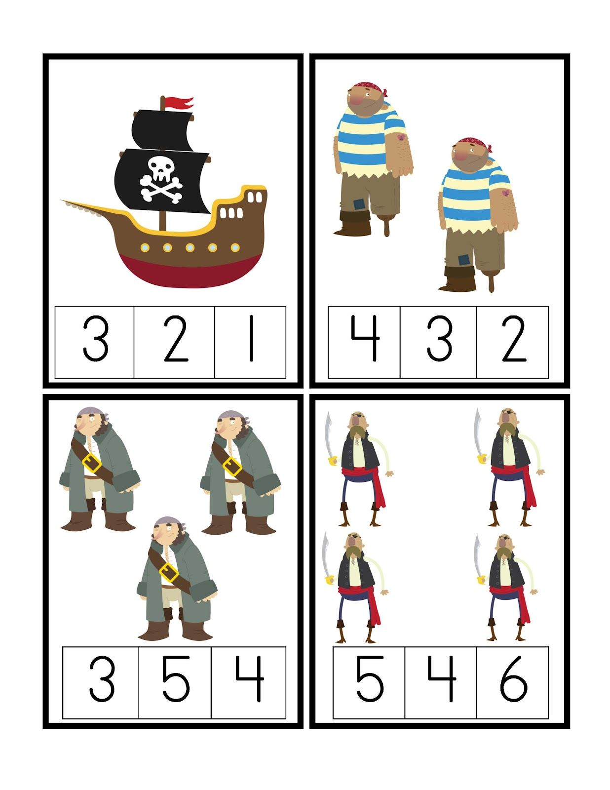 Preschool Printables Pirate