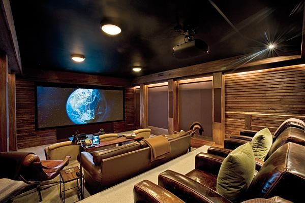 Director Barry Sonnenfeld S Private Screening Room In Telluride Colorado By Architect Michael Fuller Designlux And The Media