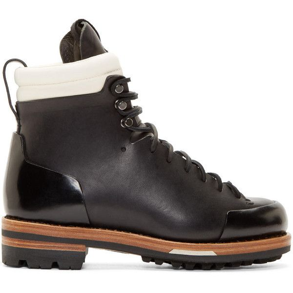 c022e6dfd31 Feit Black Leather Arctic Hiker Boots ($940) ❤ liked on Polyvore ...