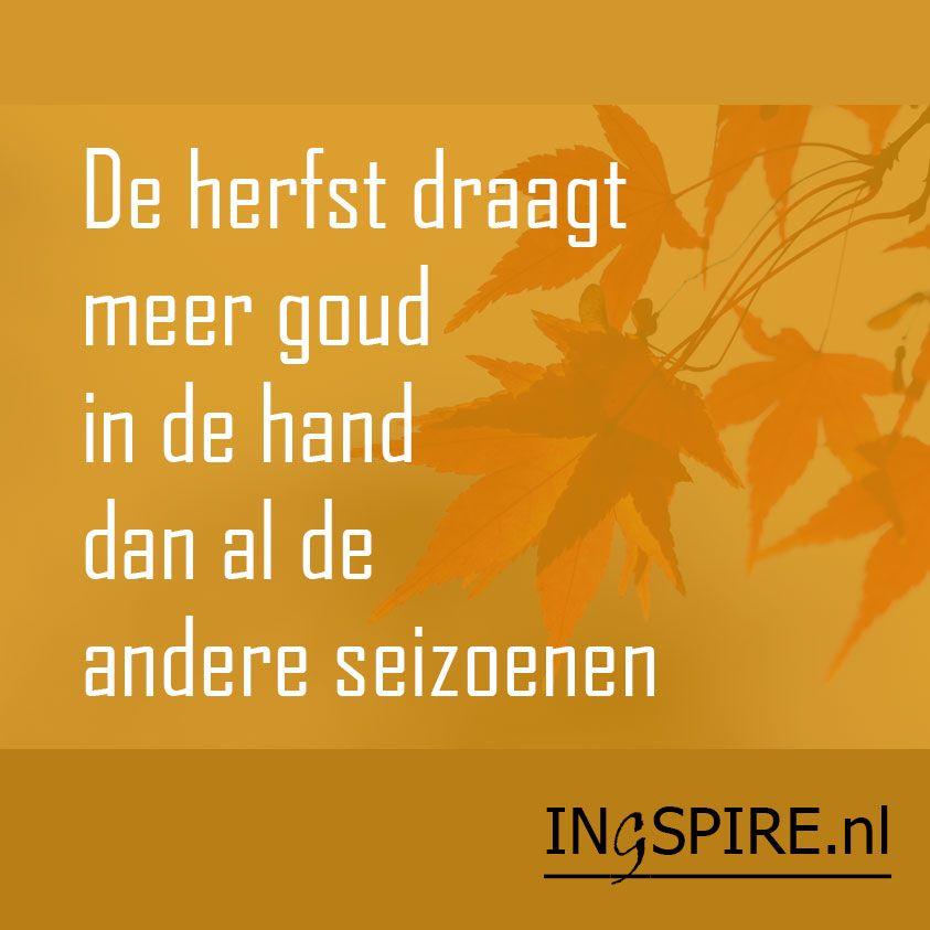 Citaten Herfst Engels : Spreuk de herfst draagt meer goud in hand dan al