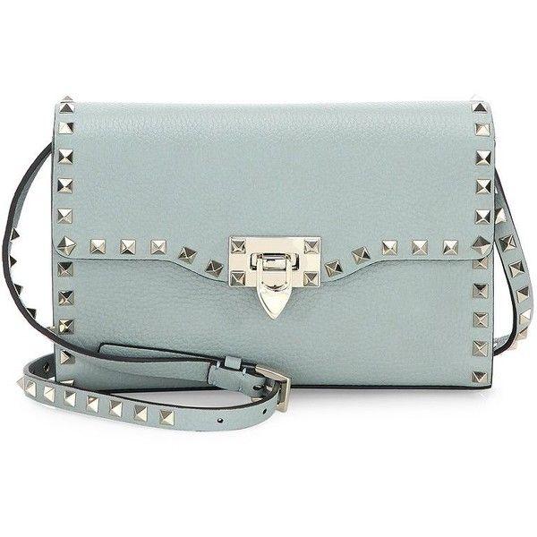 36933f9191d5 VALENTINO GARAVANI Rockstud Medium Leather Crossbody Bag (£975) ❤ liked on  Polyvore featuring bags