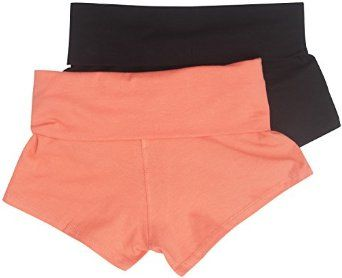 Active Basic Dance or Yoga Fold Down Hot Shorts Lots of Colors! at Amazon Women's Clothing store: