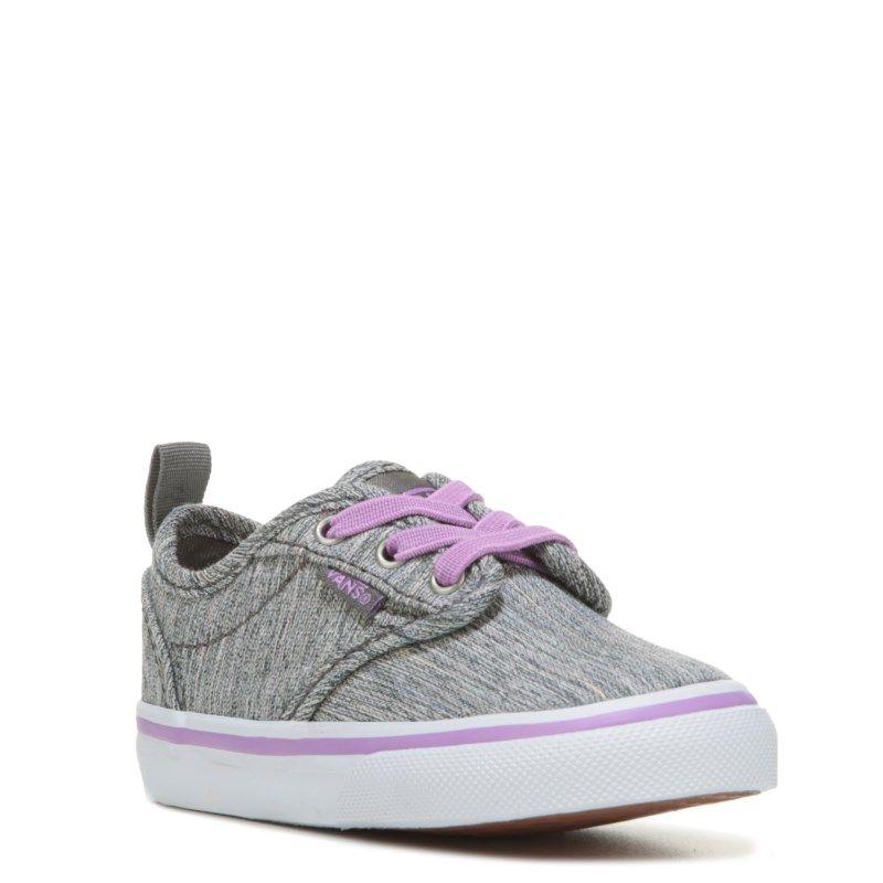f1062f88ea Vans Kids  Atwood Slip-ON Sneaker Toddler Shoes (Grey Purple Textile) -  10.0 M