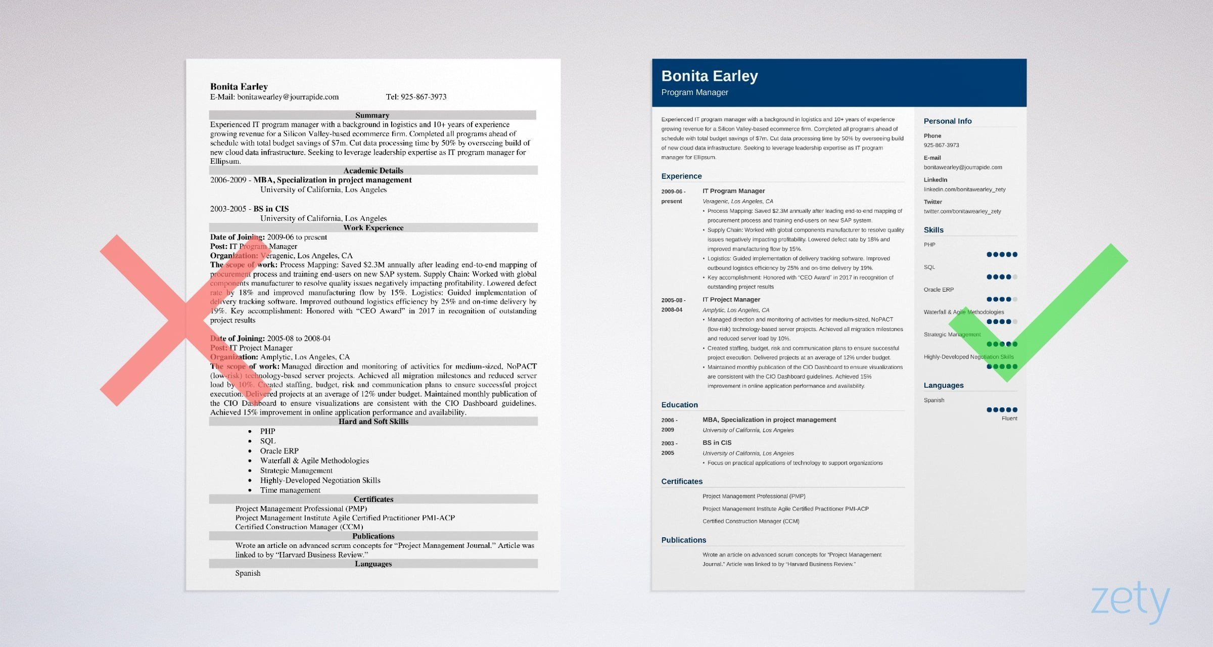 Program Manager Resume Sample 12 Tips Amp Templates Expect To Receive Fun Light Hearted Sho In 2020 Teacher Resume Examples Medical Coder Resume Resume Examples