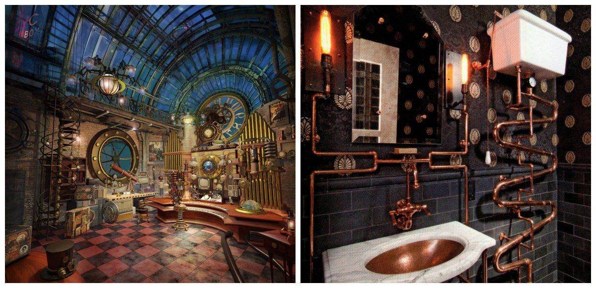 Steampunk Home Decor Decor Ideas For Steampunk Interior Design