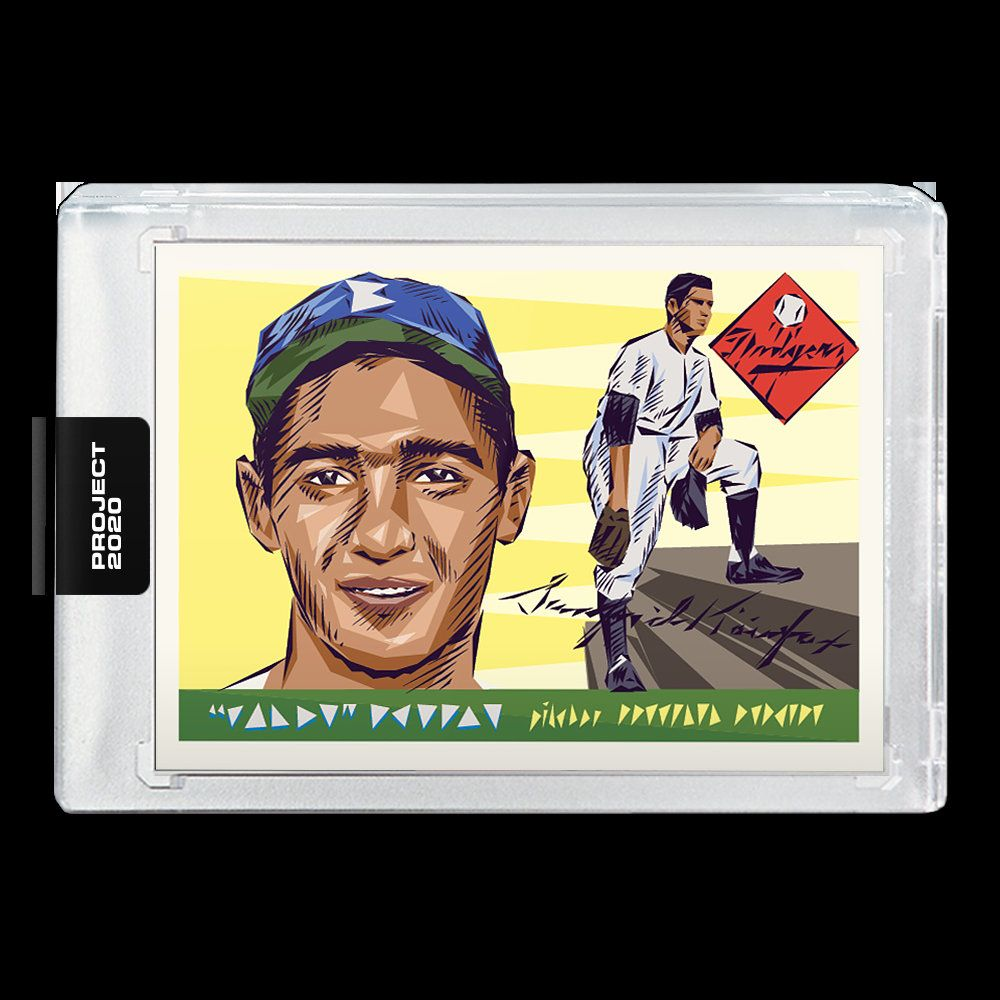 Topps PROJECT 2020 Card 89 1955 Topps Sandy Koufax Rookie