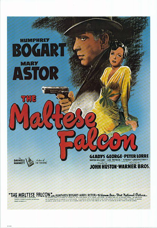 Maltese Falcon Poster Year 1941 16 Iconic Movie Posters Iconic Movies John Huston