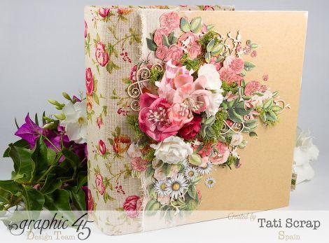 Tati, Wedding Planner, Mixed Media Album, Time to Flourish, Product by Graphic 45, Photo 3