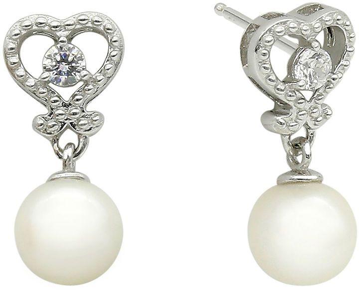 Fine Jewelry Cultured Freshwater Pearl Sterling Silver Drop Earrings 3pcvXYn