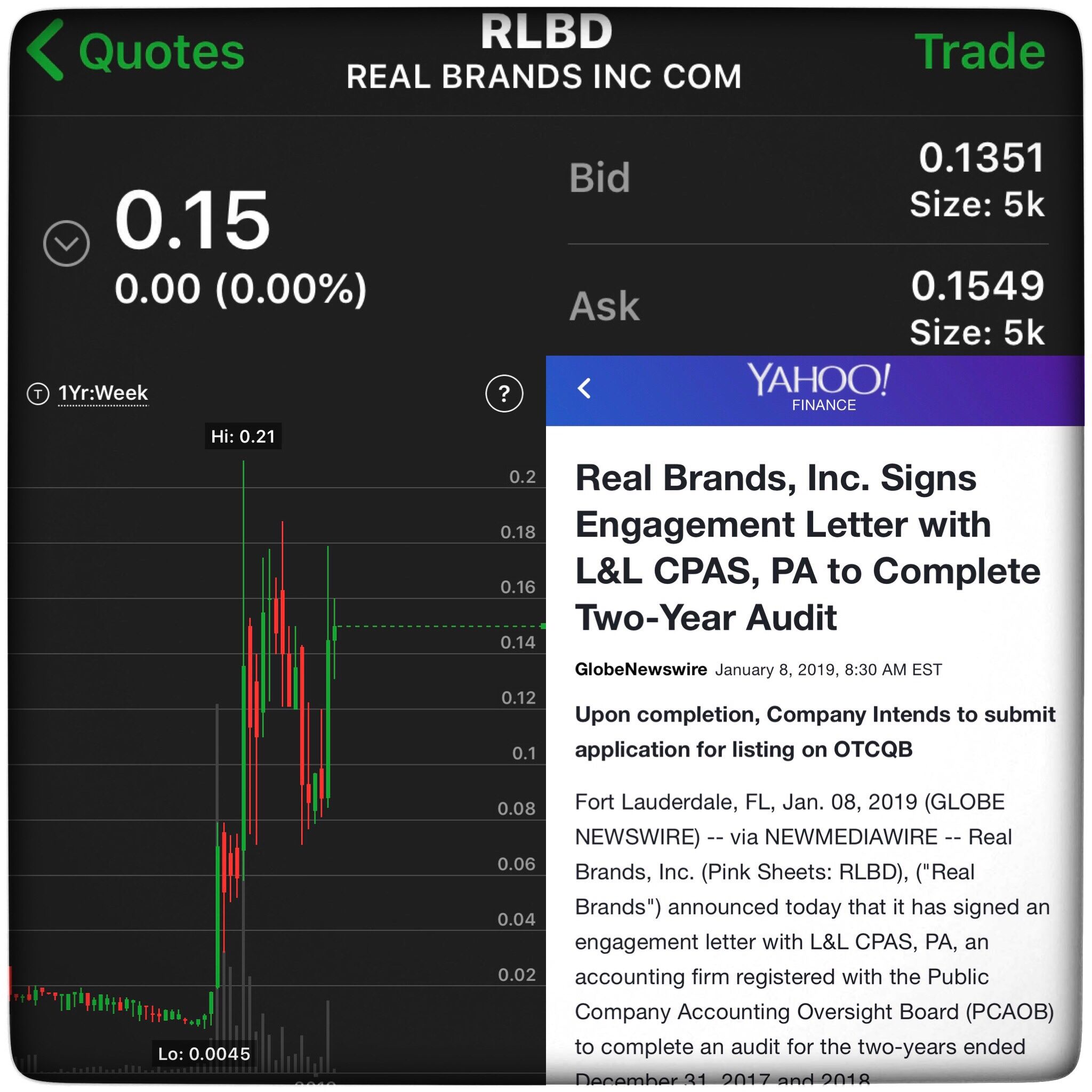 Rlbd signs engagement letter with ll cpas pa to