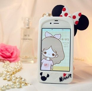 Case de silicona diseño Minnie Mouse para iphone 5 5s - Blanco – ulollicases