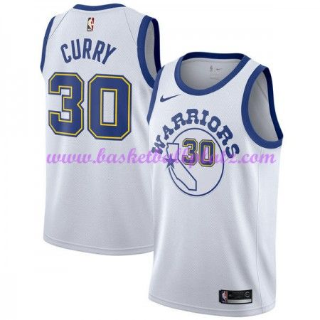 cc7b24870e2 Golden State Warriors Trikot Herren 2018-19 Stephen Curry 30# Weiß Hardwood  Classics Basketball Trikots NBA Swingman