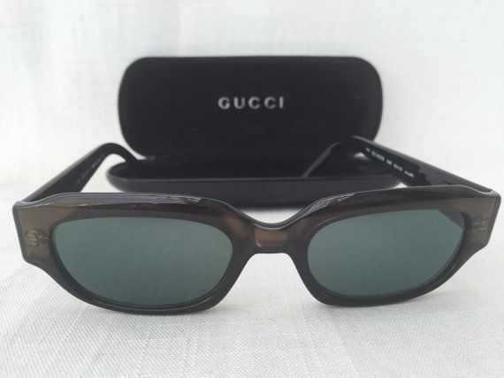 88d38997c6 GUCCI GG 2425 S Optyl Vintage brown Sunglasses with by GreenVi ...