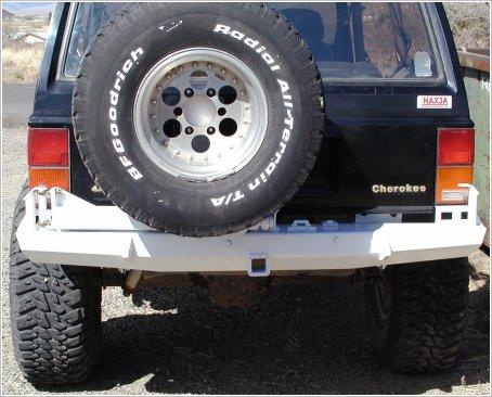 Proto Fab Cherokee Rocksolid Rear Bumper With Tire Rack