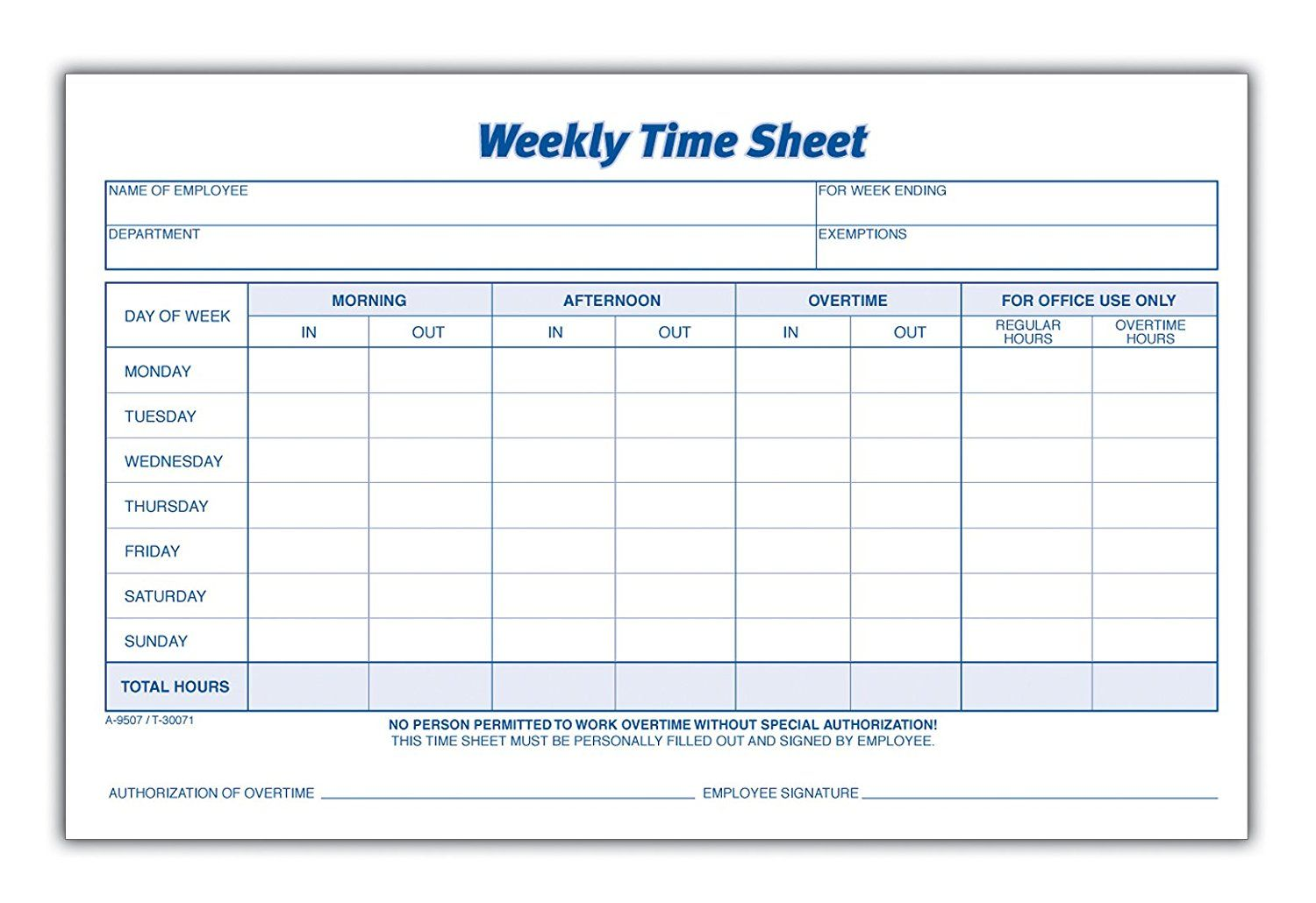 Form Thing Time Sheet Printable Timesheet Template Attendance Sheet Template